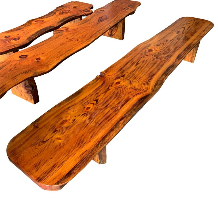 Cool Large Californian Live Edge Bench In Solid Wood Evergreenethics Interior Chair Design Evergreenethicsorg