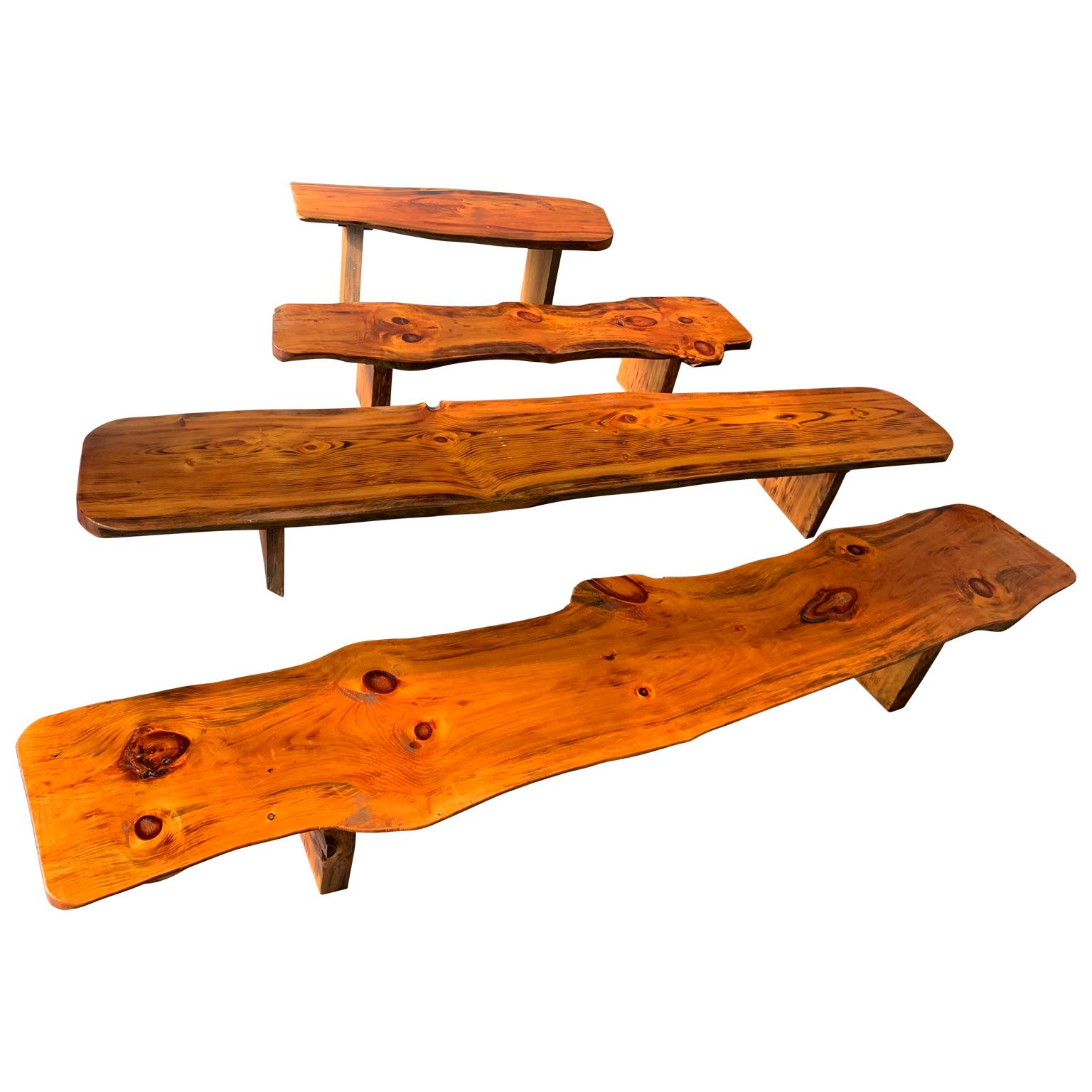 Extra Large Californian Live Edge Bench in Solid Wood