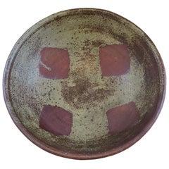 Extra Large Ceramic Bowl by Prized Artisan Gerd Knaepper, Japan, 1971