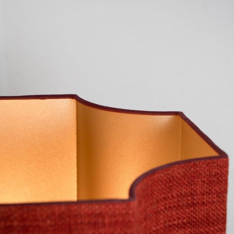 German Extra Large Ceramic Floor Lamp with New Silk Custom Made Lampshade René Houben