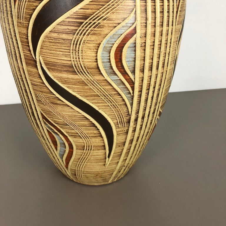 Extra Large Ceramic Pottery Vase by Sawa Ceramic Franz Schwaderlapp, Germany In Good Condition For Sale In Kirchlengern, DE