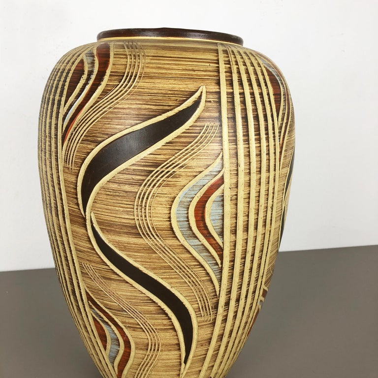 20th Century Extra Large Ceramic Pottery Vase by Sawa Ceramic Franz Schwaderlapp, Germany For Sale