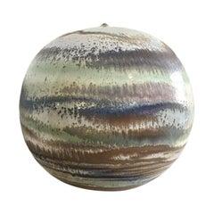 Extra Large Ceramic Sphere Vase Sculpture by Antonio Lampecco