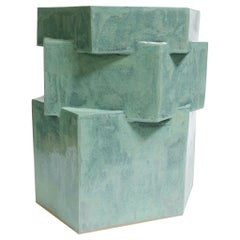 Extra Large Contemporary Ceramic Jade Hexagon Planter