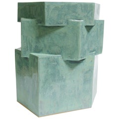 Extra Large Contemporary Ceramic Jade Hexagon Planter