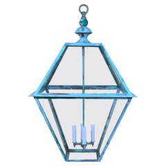 Extra Large Copper Hanging Lantern