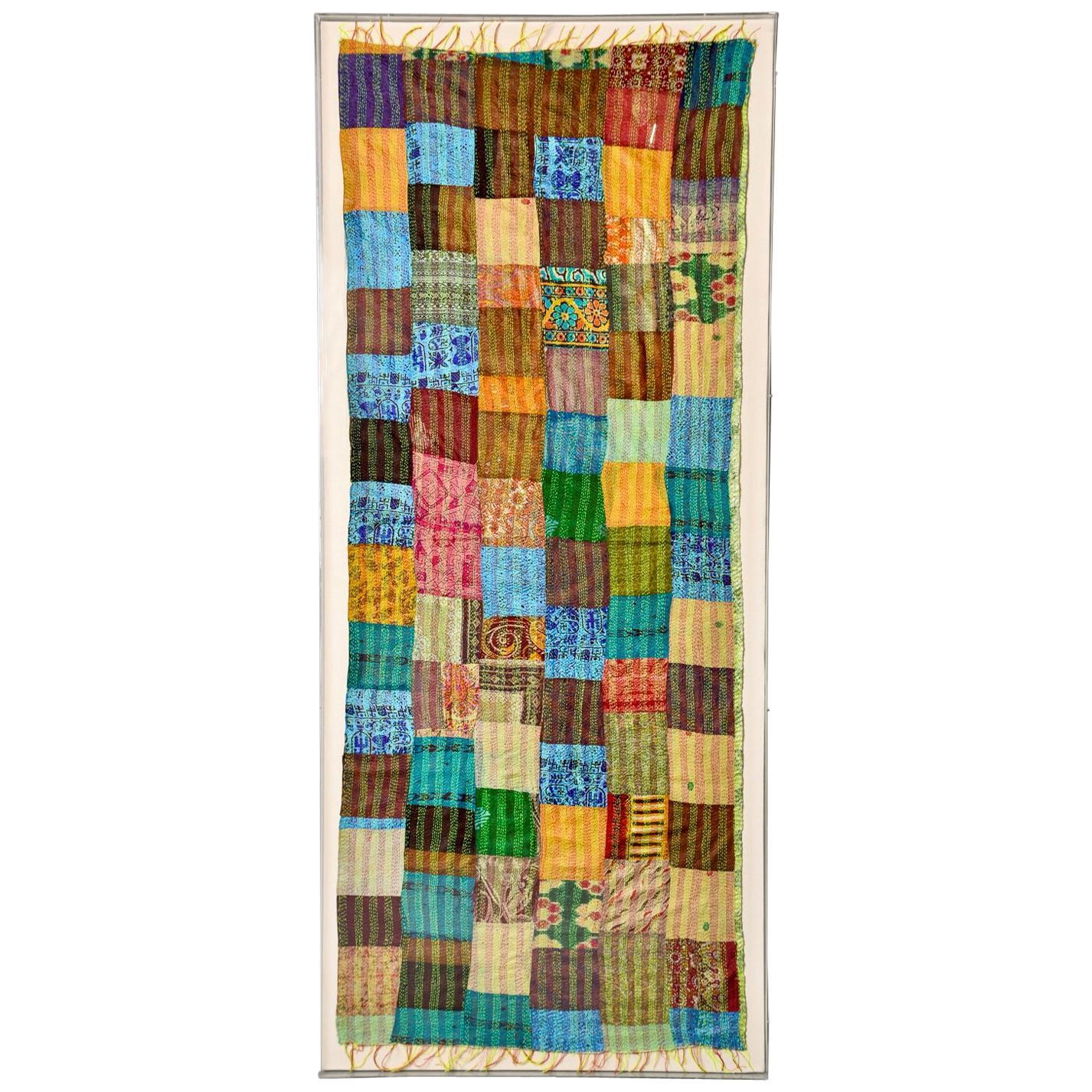 Extra Large Custom Framed Vintage Indian Textile