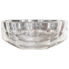 Extra Large Faceted Lucite Bowl, circa 1970s
