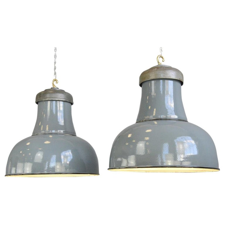 Extra Large Factory Lights by Schaco, circa 1930s