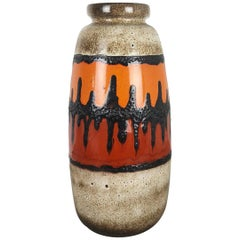 """Extra Large Floor Vase Fat Lava """"284-47"""" Vase by Scheurich, Germany, 1970s"""