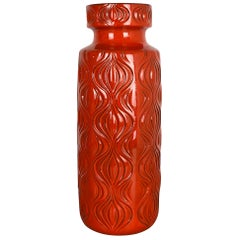 """Extra Large Floor Vase Fat Lava """"Onion"""" Vase by Scheurich, Germany, 1970s"""