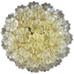 Extra Large Floral Ernst Palme Glassflower Fixture or Sconce Flush Mount