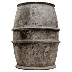 Extra Large French Zinc Barrel