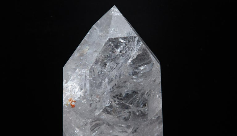 Contemporary Extra Large Hand Carved Rock Crystal Point For Sale
