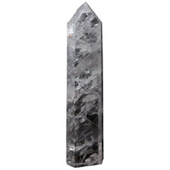 Extra Large Hand Carved Rock Crystal Point