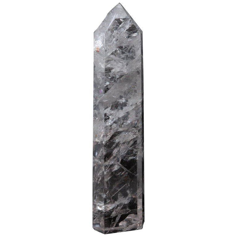 Extra Large Hand Carved Rock Crystal Point For Sale
