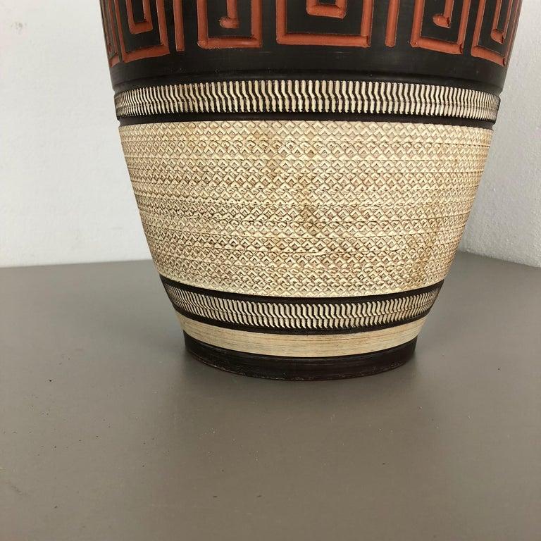 Mid-Century Modern Extra Large Handmade Ceramic Pottery Floor Vase