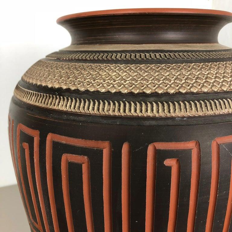 20th Century Extra Large Handmade Ceramic Pottery Floor Vase