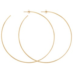 Extra Large Hoop Earrings in Solid Yellow Gold by Allison Bryan