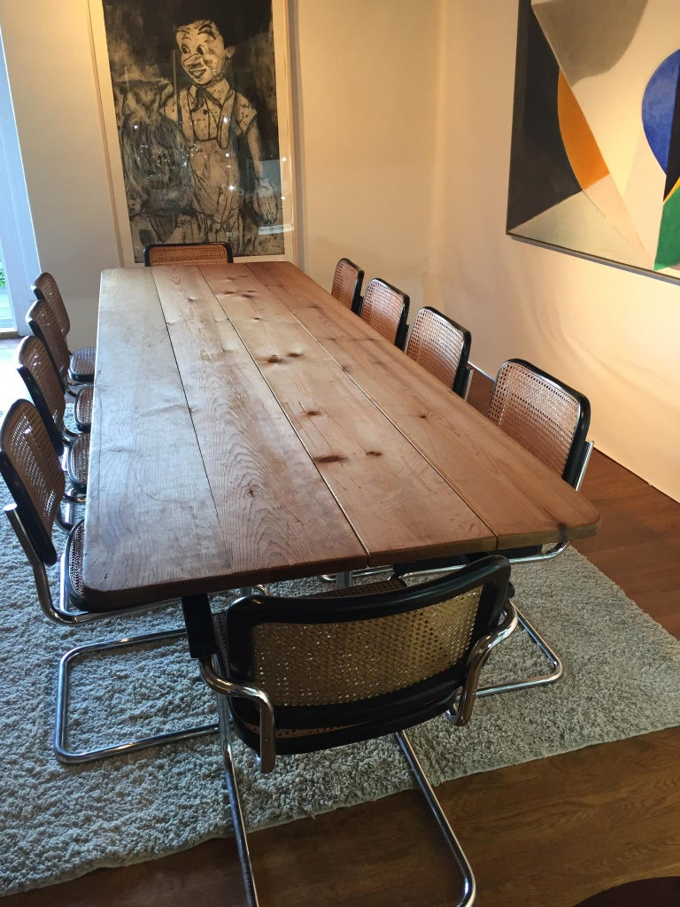 Extra Large Industrial Farm Conference Table Folding
