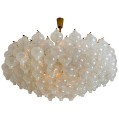Extra Large Kalmar 'Tulipan' Flush Mount Chandelier, 127 Glasses and Brass 1960s