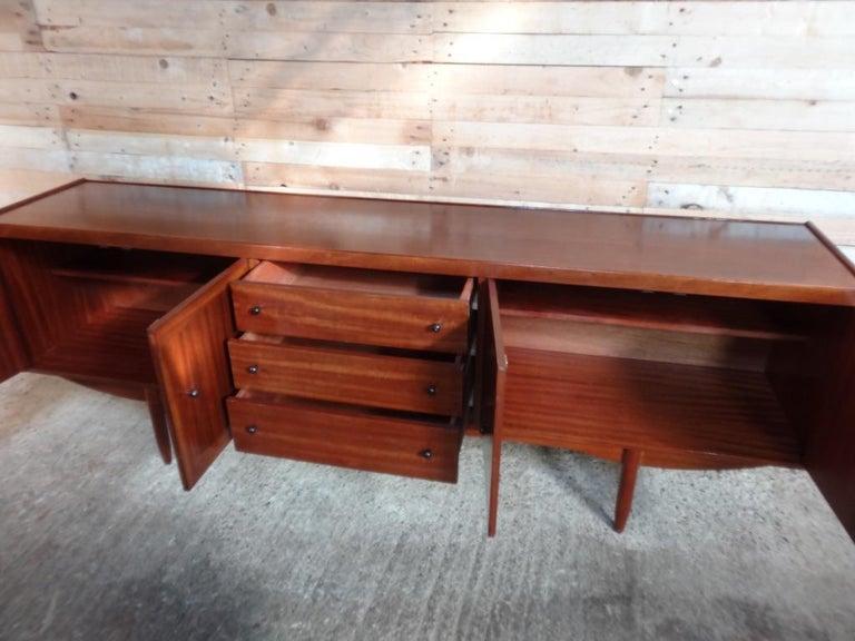 Mid-Century Modern Extra Large Organic Teak 1960 Retro Minimalistic Sideboard / Credenza For Sale