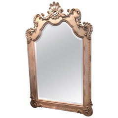 8 ft. Tall Hollywood Regency Style Leaning or Wall Mount Mirror