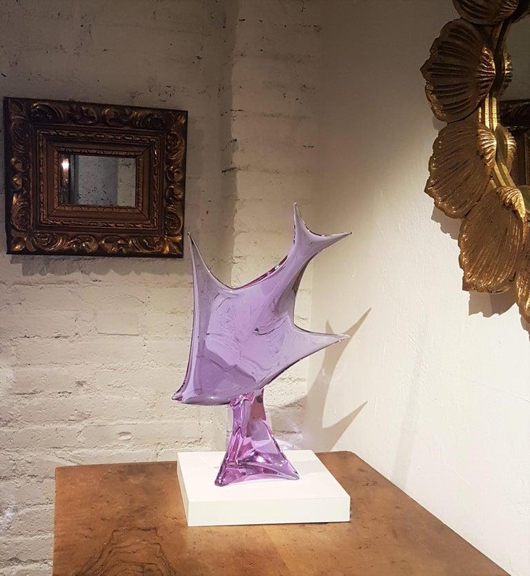 Italian Murano Glass Fish Sculpture by Licio Zanetti, 1960s For Sale