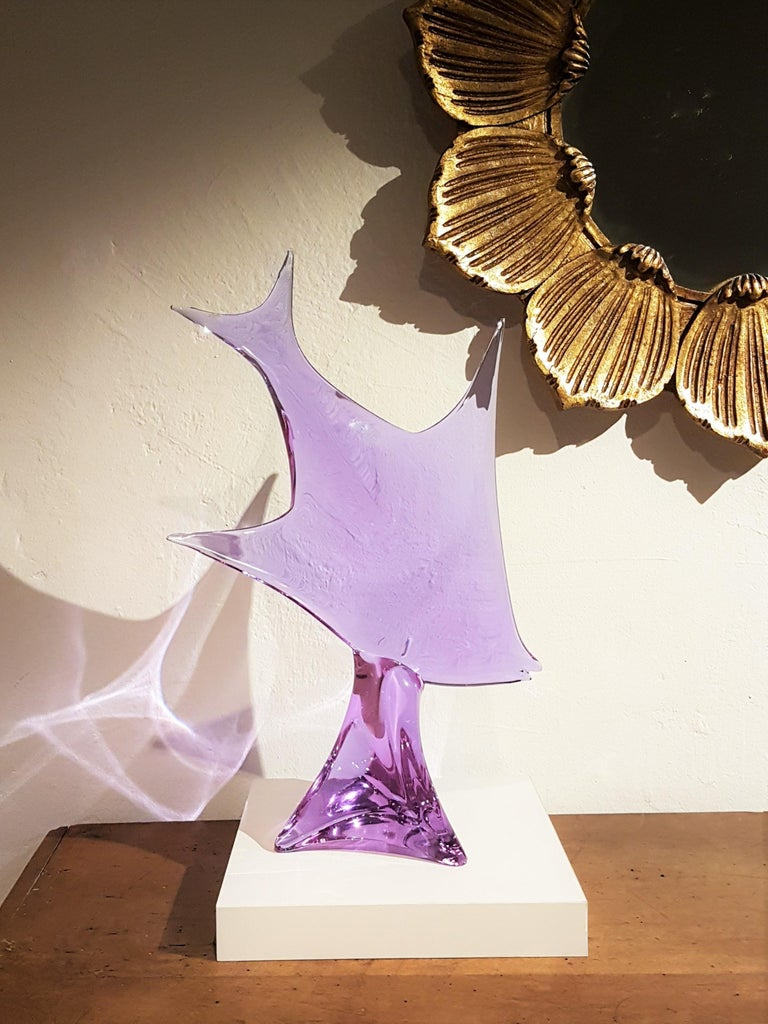 20th Century Murano Glass Fish Sculpture by Licio Zanetti, 1960s For Sale