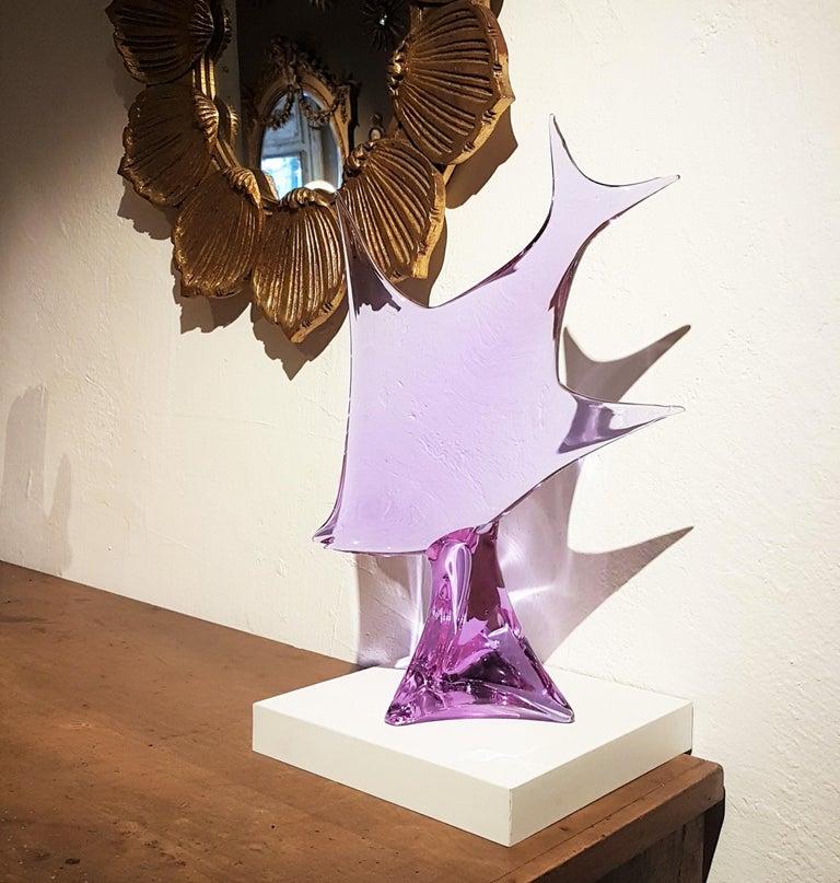 Murano Glass Fish Sculpture by Licio Zanetti, 1960s For Sale 1