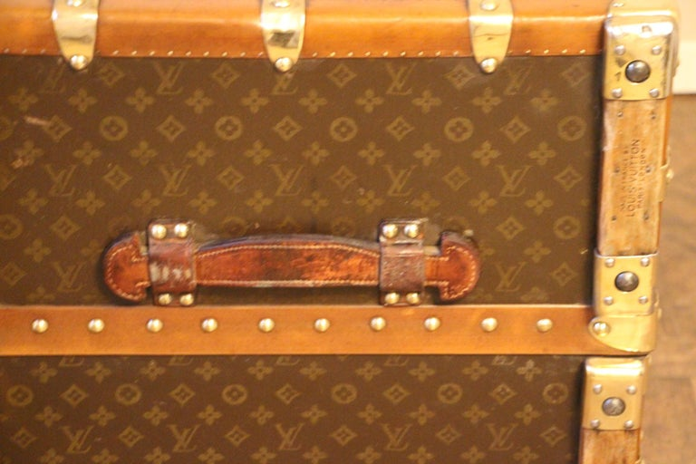 Extra Large Louis Vuitton Wardrobe Steamer Trunk, Louis Vuitton Trunk For Sale 8