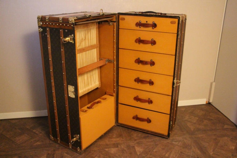 Extra Large Louis Vuitton Wardrobe Steamer Trunk, Louis Vuitton Trunk For Sale 9