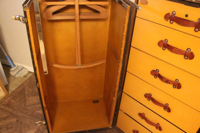 Extra Large Louis Vuitton Wardrobe Steamer Trunk, Louis Vuitton Trunk For Sale 13