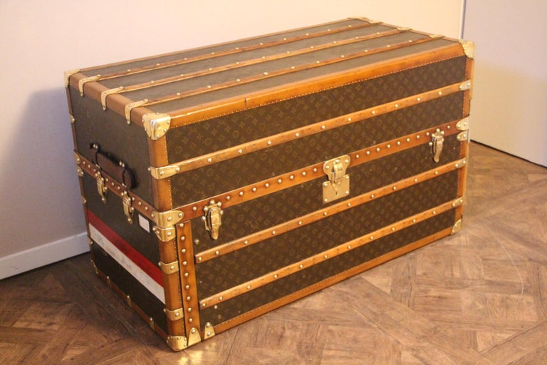Extra Large Louis Vuitton Wardrobe Steamer Trunk, Louis Vuitton Trunk For Sale 1