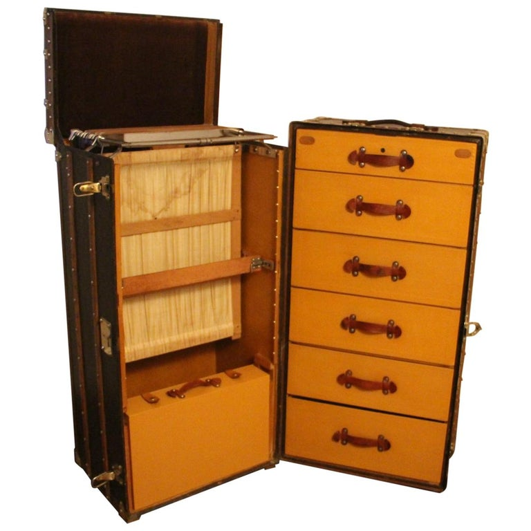 Extra Large Louis Vuitton Wardrobe Steamer Trunk, Louis Vuitton Trunk For Sale