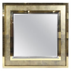Hollywood Regency Brass Mirror
