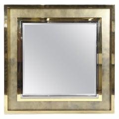 Extra Large Maison Jansen Hollywood Regency Brass Mirror