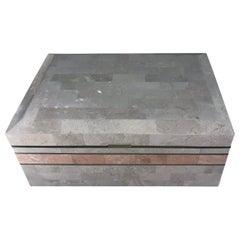 Extra Large Maitland Smith Tessellated Stone Box