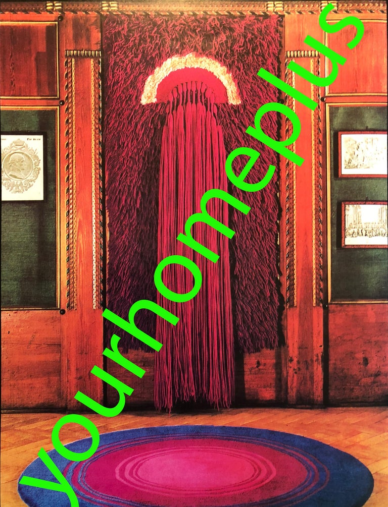 Wool Extra Large Modernist German Wall Rug Ewald Kröner for Schloss Hackhausen, 1970s For Sale