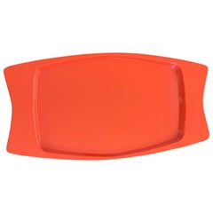 Extra Large Orange Lacquer Tray by Jens Quistgaard for Dansk- Early Production