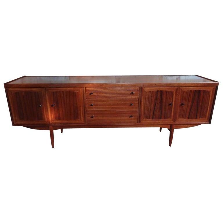 Extra Large Organic Teak 1960 Retro Minimalistic Sideboard / Credenza For Sale