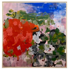 Extra Large Original Floral Abstract Oil Painting Commissioned Avon Corporation