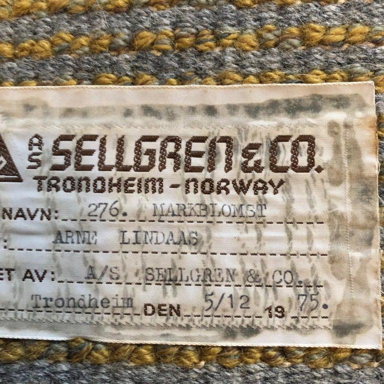 Extra Large Original Scandinavian Rya Rug, Arne Lindaas for Sellgren AS, Norway In Good Condition For Sale In Kirchlengern, DE