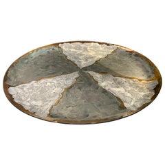 Extra Large Patterned Glass Platter, Brazil, Contemporary