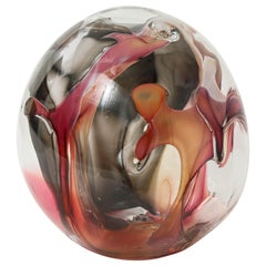Extra Large Peter Bramhall Glas Orb Sculpture