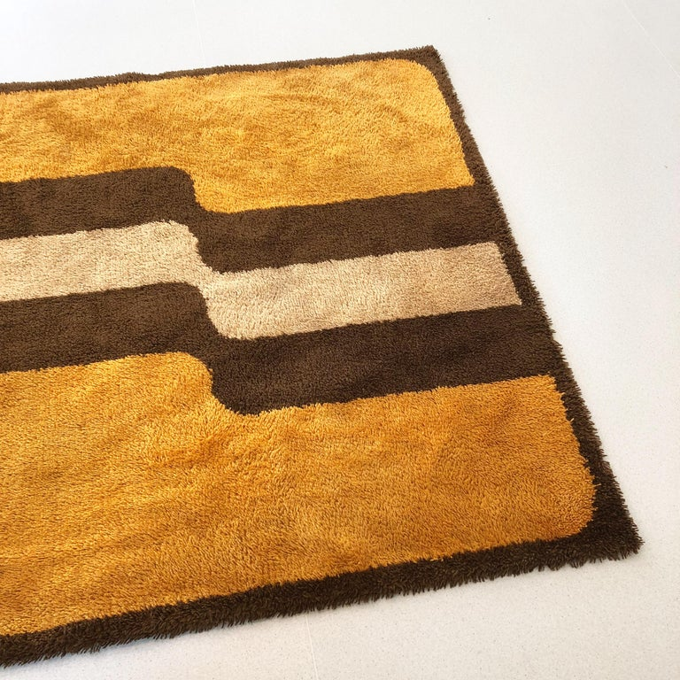 Extra Large Pop Art Multi-Color High Pile Wool Rug by Besmer, Germany, 1970s For Sale 5