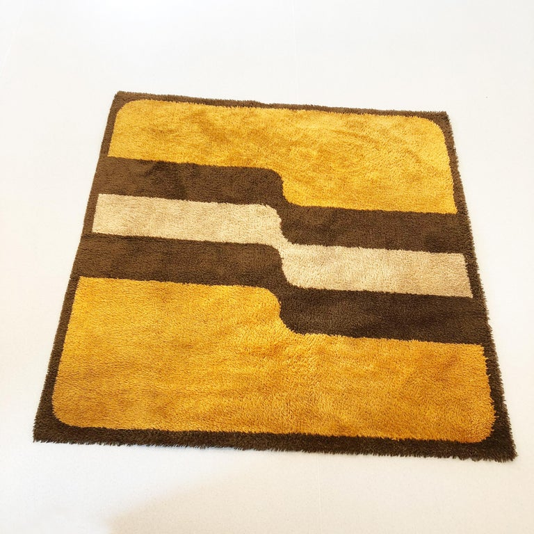 Extra Large Pop Art Multi-Color High Pile Wool Rug by Besmer, Germany, 1970s For Sale 10
