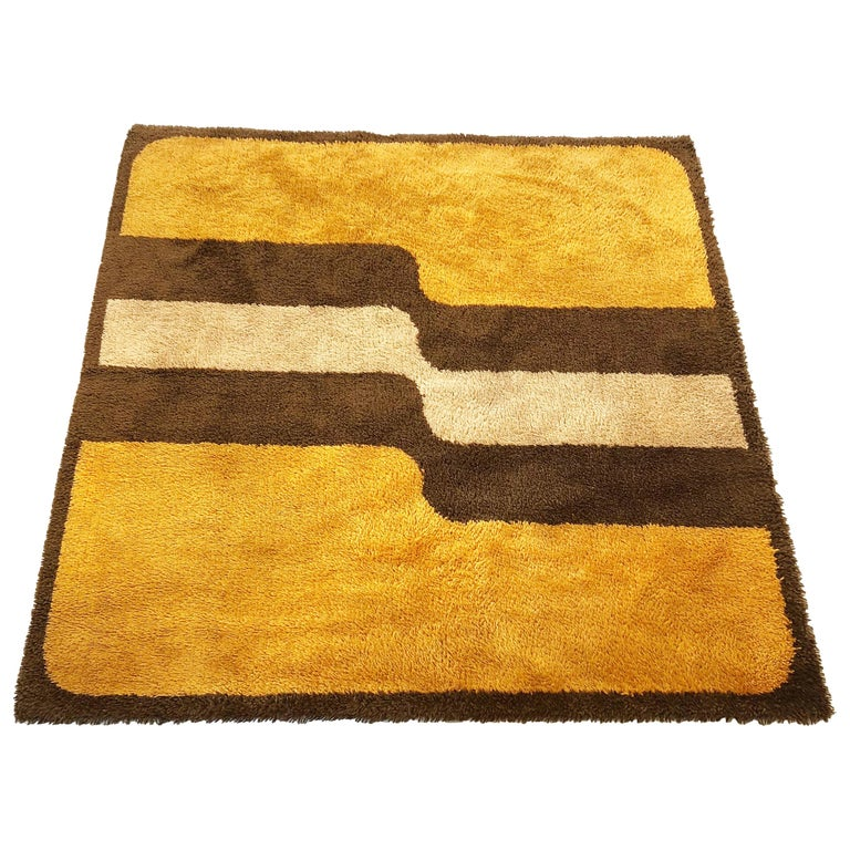 Extra Large Pop Art Multi Color High Pile Wool Rug By Besmer