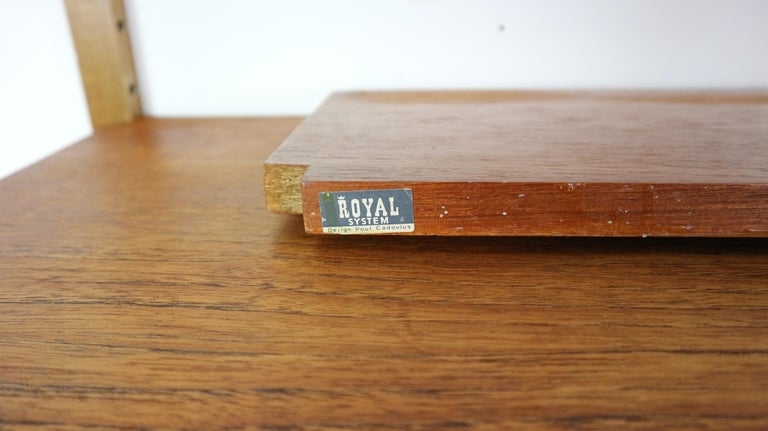 Extra Large Poul Cadovius for Royal System Wall System or Shelving Unit, 1950s 13