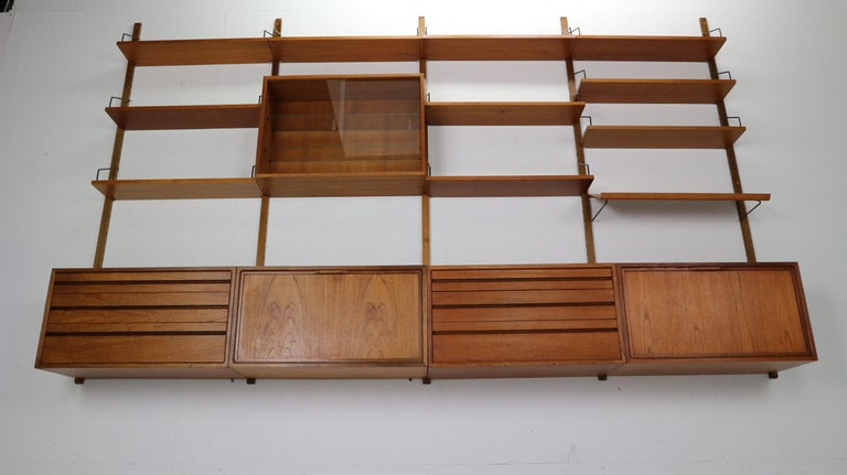Mid-Century Modern Extra Large Poul Cadovius for Royal System Wall System or Shelving Unit, 1950s